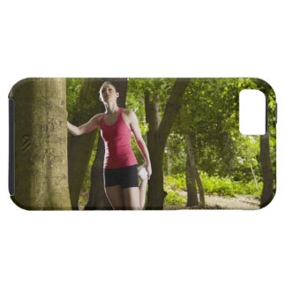 Jogger stretching in forest iPhone SE/5/5s case