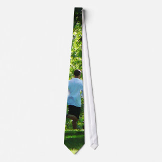 Joggers in the Park Tie