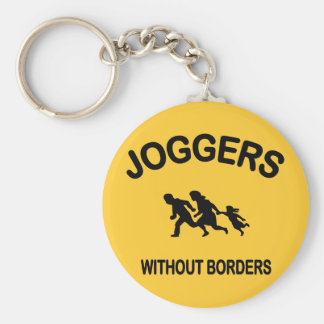 Joggers Without Borders Keychain