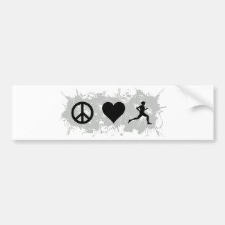 Jogging 1 car bumper sticker