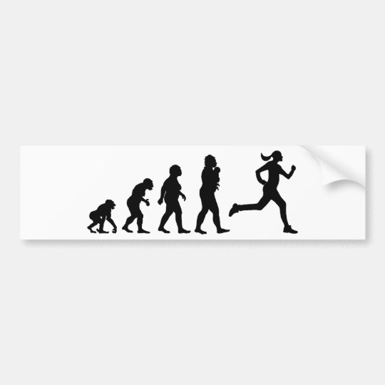 Jogging Bumper Sticker