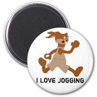Jogging Cartoon Rabbit Magnet