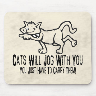 Jogging Cats Mouse Pad