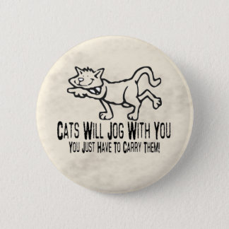 Jogging Cats Pinback Button