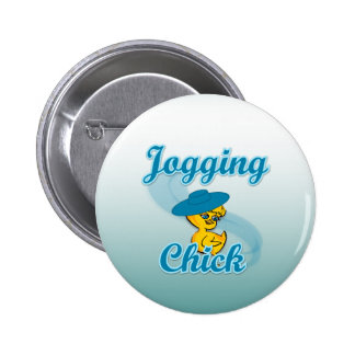 Jogging  Chick #3 Pinback Buttons