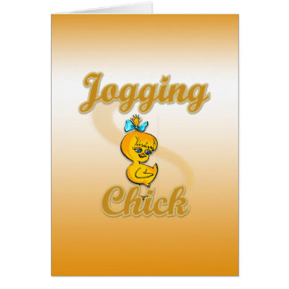 Jogging Chick Card
