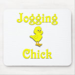 Jogging  Chick Mouse Pads