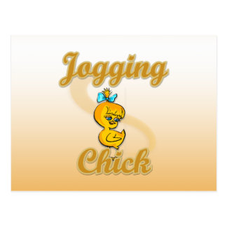 Jogging Chick Postcard