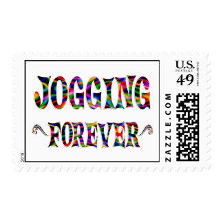 Jogging Forever Stamps