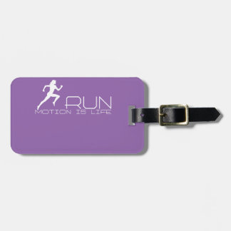 Jogging girl luggage tag