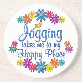 Jogging Happy Place Drink Coaster