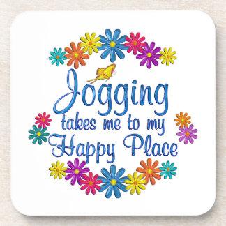 Jogging Happy Place Coasters