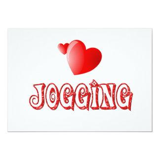 Jogging Hearts Card