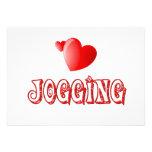 Jogging Hearts Personalized Invitations