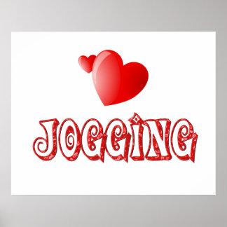 Jogging Hearts Poster