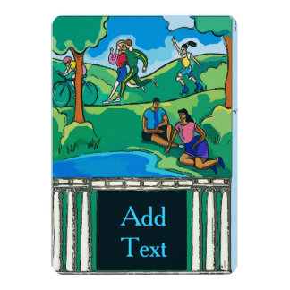 Jogging In The Park Card