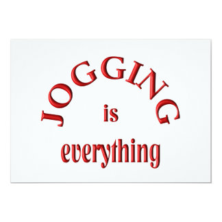 Jogging is Everything Card