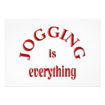 Jogging is Everything Custom Invites