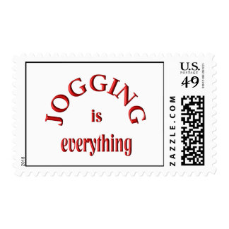 Jogging is Everything Postage Stamp