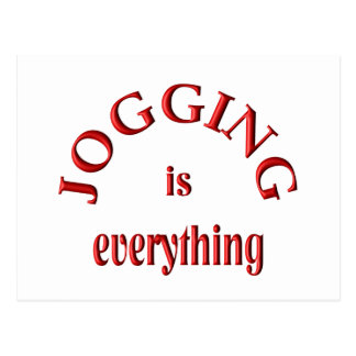 Jogging is Everything Postcard