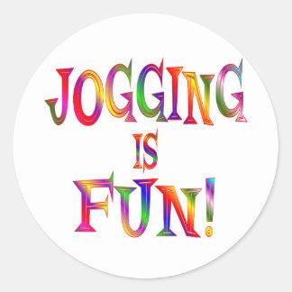 Jogging is Fun Classic Round Sticker
