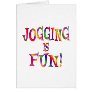Jogging is Fun Greeting Card