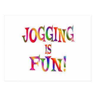 Jogging is Fun Postcard