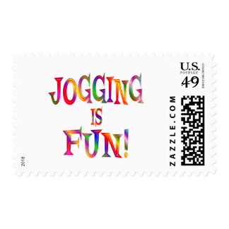 Jogging is Fun Stamps