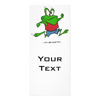 jogging joggy froggy frog cartoon customized rack card