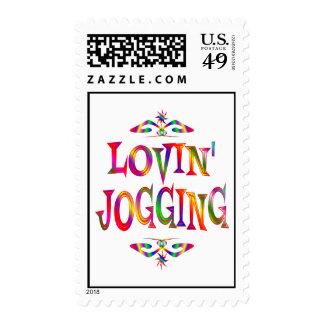 Jogging Lover Postage Stamp