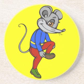 Jogging Mouse Drink Coaster