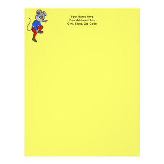 Jogging Mouse Letterhead