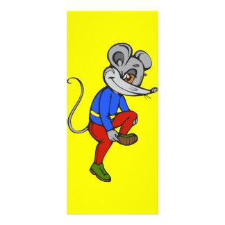 Jogging Mouse Rack Cards