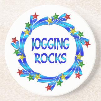 Jogging Rocks Beverage Coaster