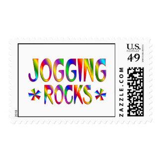 Jogging Rocks Stamp