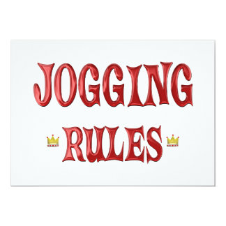 Jogging Rules Card