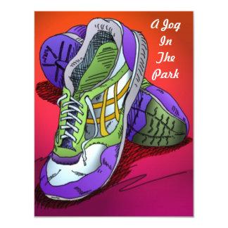 Jogging Run Invitations Red-orange to Encourage