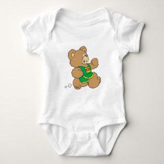 Jogging Running Bear Baby Bodysuit