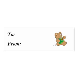 Jogging Running Bear Business Card Template
