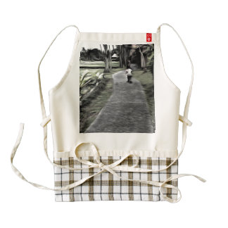 Jogging starts young zazzle HEART apron