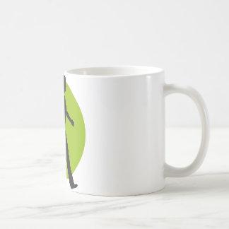 jogging woman coffee mug