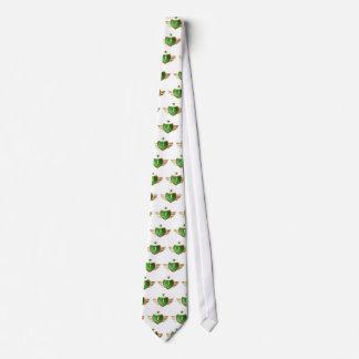 jogging woman neck tie