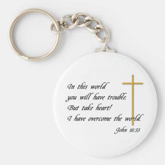 Joh 16:33 keychain