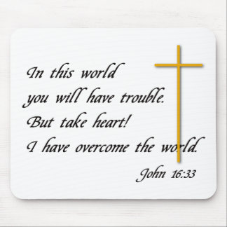 Joh 16:33 mouse pads
