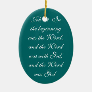 Joh 1:14  And the Word became flesh and dwelt amon Ceramic Ornament