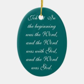 Joh 1:14  And the Word became flesh and dwelt amon Christmas Tree Ornaments