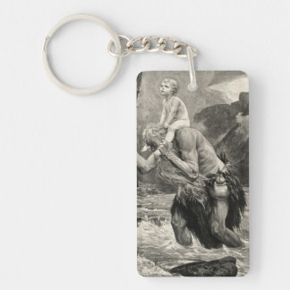 Joh Mogk Christ Saint Christopher Child River Keychain
