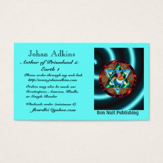 Johan Adkins Author of Prismland & Earth 1 Business Card