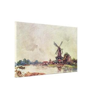 Johan Barthold Jongkind - paisaje Lienzo Envuelto Para Galerias