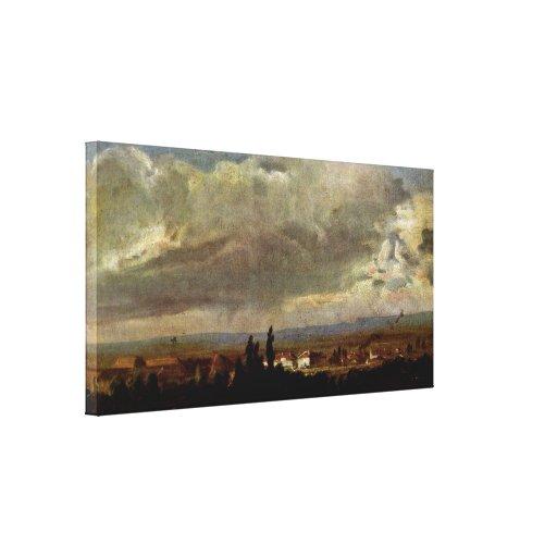 Johan Claussen cristiano Dahl - tormenta en Dresde Impresion En Lona